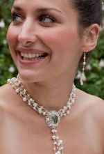 Josephine - Vintage Statement Pearl Wedding Necklace